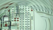 Layout of a printed circuit board Stock Footage