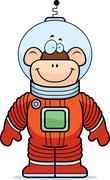 Monkey Astronaut Stock Illustration