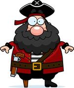 Pirate Smiling - stock illustration