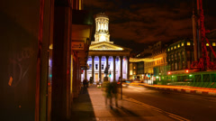 Glasgow city at night time lapse - stock footage
