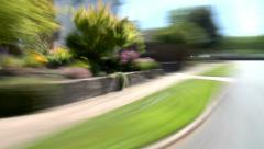 Residential Driving Day Portland Angle View Stock Footage