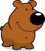 Bear Smiling - stock illustration