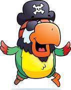 Pirate Parrot Running Piirros