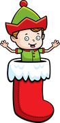Stock Illustration of Elf Stocking