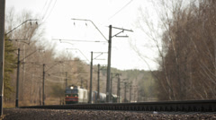 Train approaching short version Stock Footage