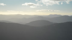 Scotland mountains, from Ben and Loch Lomond overlooking Trossochs Stock Footage