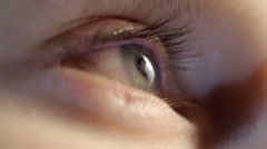 Kids eye close-up 2 Stock Footage