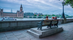Westminister sunset TL RAW.mp4 Stock Footage