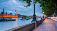 Westminister Walkway TL RAW.mp4 Stock Footage