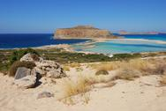 Stock Photo of view of the lagoon ballos(balos) and the island gramvousa