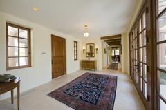 Empty hallway in house - stock photo