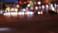 Stock Video Footage of Bokeh City Traffic 2
