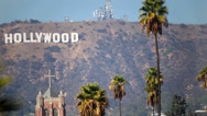 Stock Video Footage of Hollywood Sign