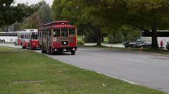 Trolley Buses in Stanley Park - stock footage