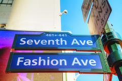 Seventh avenue sign Stock Photos