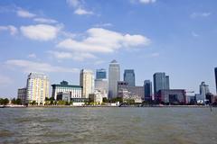 Stock Photo of Skyline of Canary Wharf