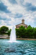 tennessee state capitol building in nashville - stock photo