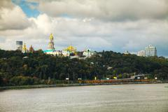 overview of kiev - stock photo