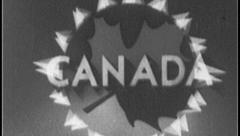 CANADA Canadian Travel Vintage Old Film Title Graphic Leader 8mm 7046 Stock Footage