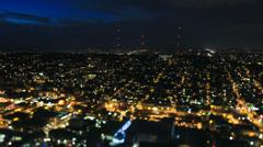 Seattle City Traffic Time Lapse Night Tilt Shift - stock footage