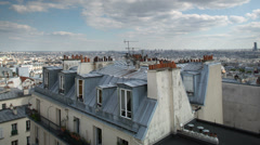Montmatre rooftops, paris france 4k Stock Footage