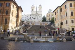 piazza di spagna - roma - stock photo