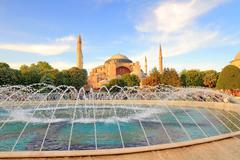 Hagia sophia, the famous historical building of istanbul. now it's a museum a - stock photo