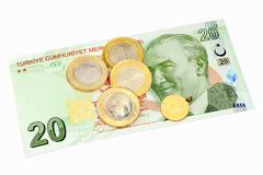 Turkish Money Stock Photos