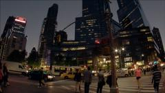 NYC Columbus Circle Time Lapse Stock Footage