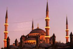 Sultanahmet Mosque in Ramadan Stock Photos