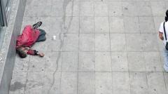 Homeless metro paris 4k Stock Footage