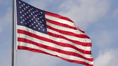American flag waving slow motion 240fps Stock Footage