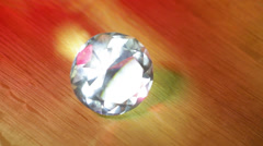 Diamond magnifying glass look closely Stock Footage