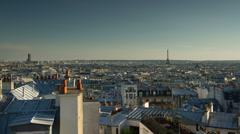 Sunset timelapse over paris skyline, france 4k Stock Footage