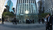 Stock Video Footage of Apple Store 5th ave NYC Flag Ship