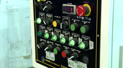View of buttons and levers on control panel Stock Footage