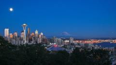 Seattle Cityscape Time Lapse Dusk - stock footage