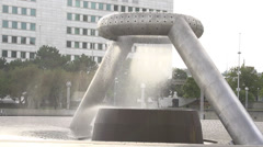 Detroit Hart plaza Dodge fountain slow motion 120fps Stock Footage