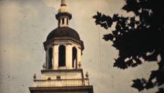 Independence Hall Philadelphia-1940 Vintage 8mm film - stock footage