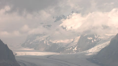 Timelapse of clouds moving over Concordia Place, Aletsch Glacier, Switzerland. - stock footage