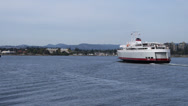 Stock Video Footage of Coho Ferry Departs from Victoria Harbor