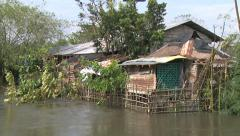 Hurricane Aftermath Flooding Of Houses Stock Footage