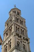bell tower in split croatia - world heritage site - stock photo