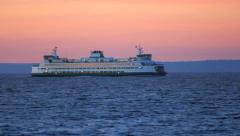 Seattle Ferry Passing By Stock Footage