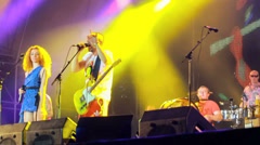 Leningrad live performance at the rock festival The Best City.UA Stock Footage