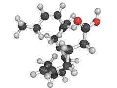 Eicosapentaenoic acid (epa) omega-3 fatty acid, molecular model. Stock Illustration