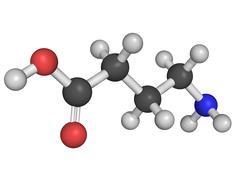 chemical structure of gamma-aminobutyric acid (gaba) - stock illustration