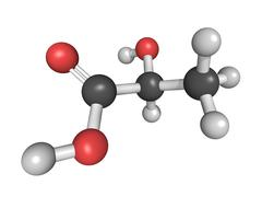 chemical structure of lactic acid - stock illustration