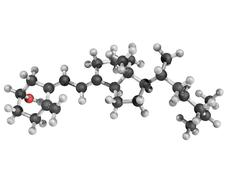 chemical structure of vitamin d3 - stock illustration