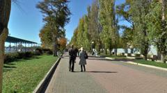 The resort Evpatoria: Gorky Street Stock Footage